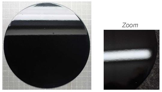 A sample of Zagnelis® Surface Ultra – the reflections indicate the low level of waviness that can be achieved after stamping.